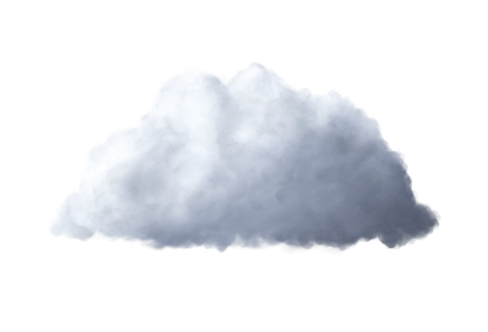 Cloud, Isolated, Cumulus, Transparent, White, Gray